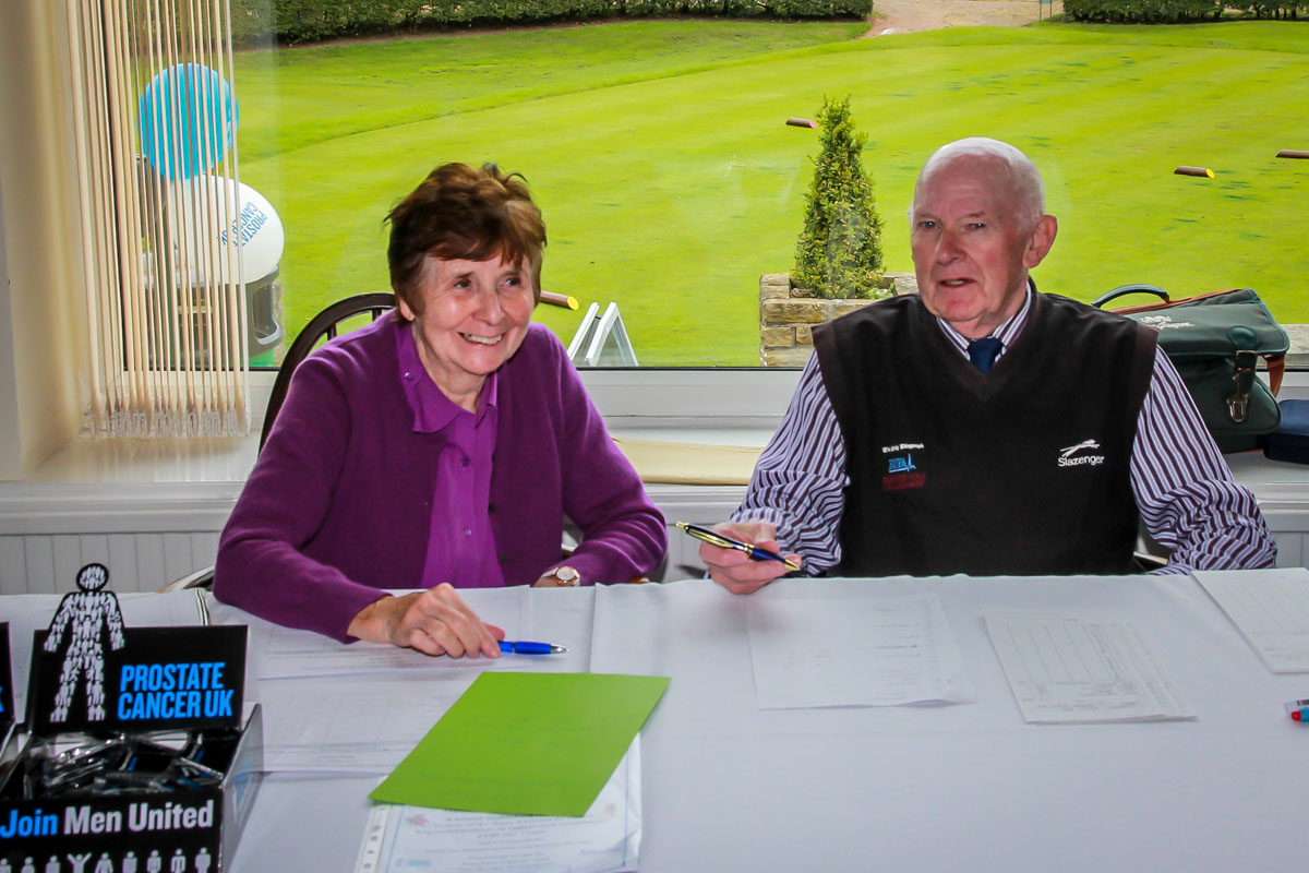 Charity Golf Day - Working hard, all day on the front desk.