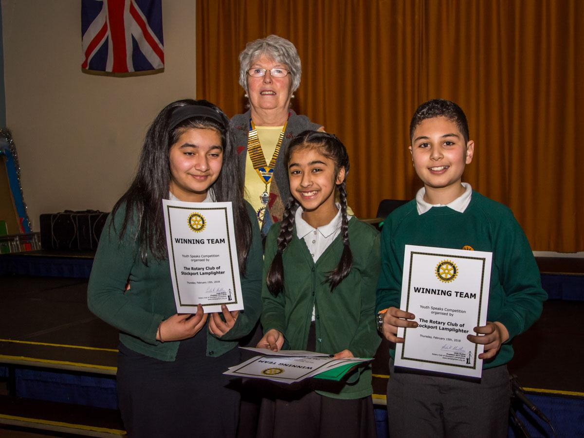 Youth Speaks 2018 - The winning team, Green End School.