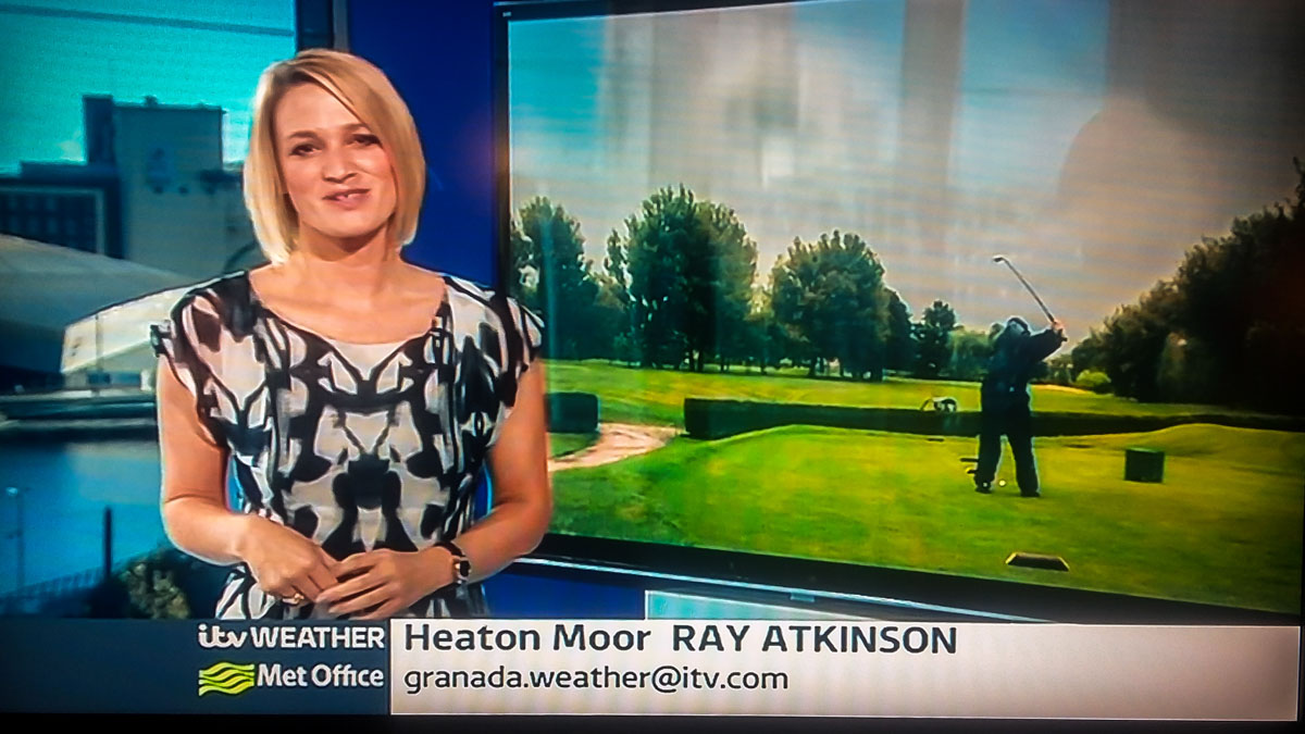 Charity Golf Competition - ITV Granada Weather report