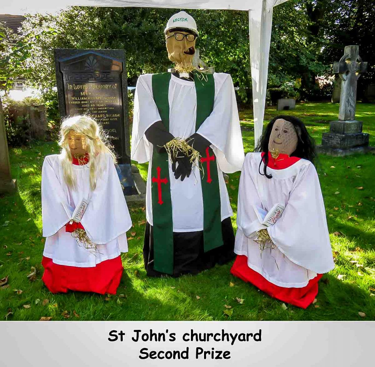 Scarecrow Hunt - St John's Church, second prize winner.