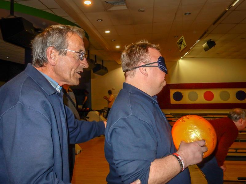 Walthew House Cup - Tony guides John to the lanes.