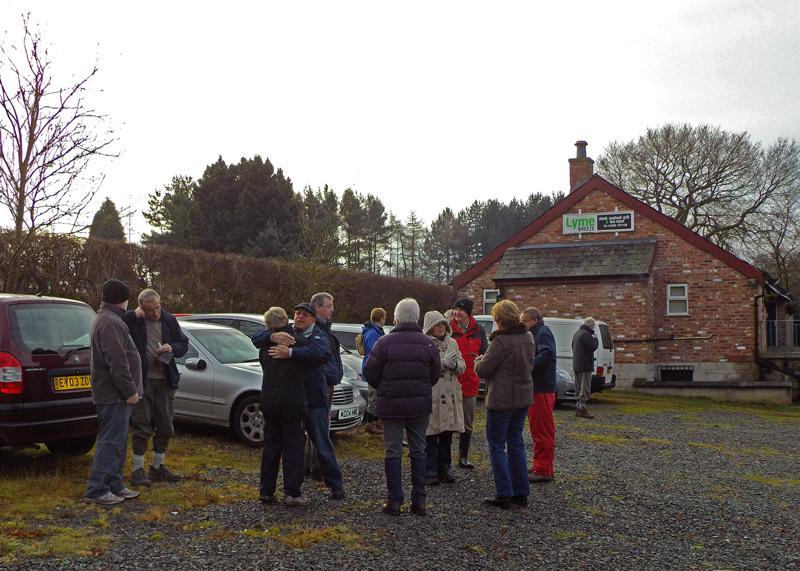 New Year Walk 2013 - Meeting in the car park.