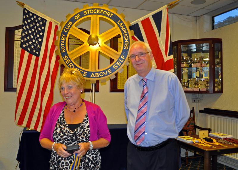 Club Assembly - Carol hands over the chain of office to Bill.