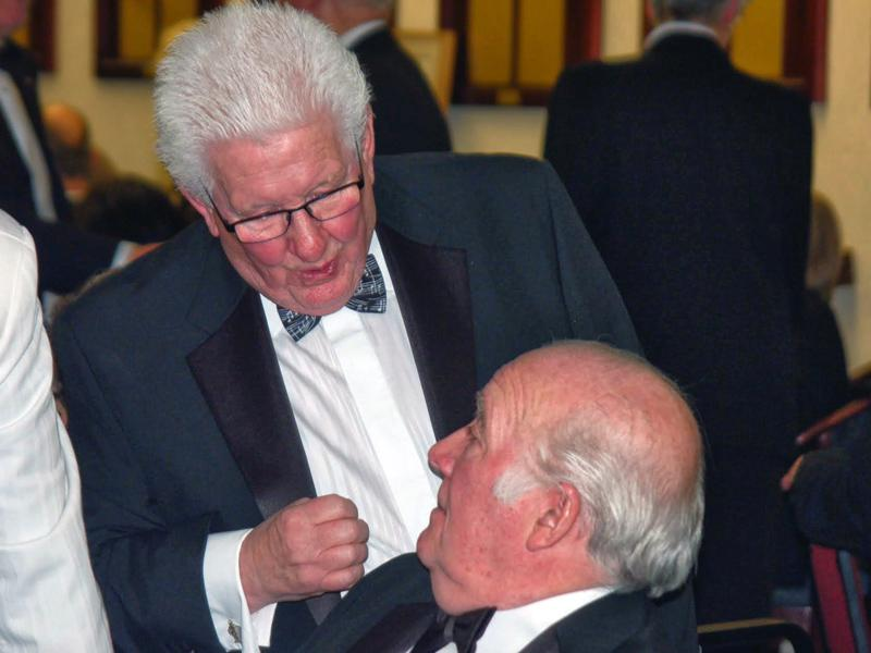 Charter Night - Past members Ken Bown and Alan Ratcliffe.