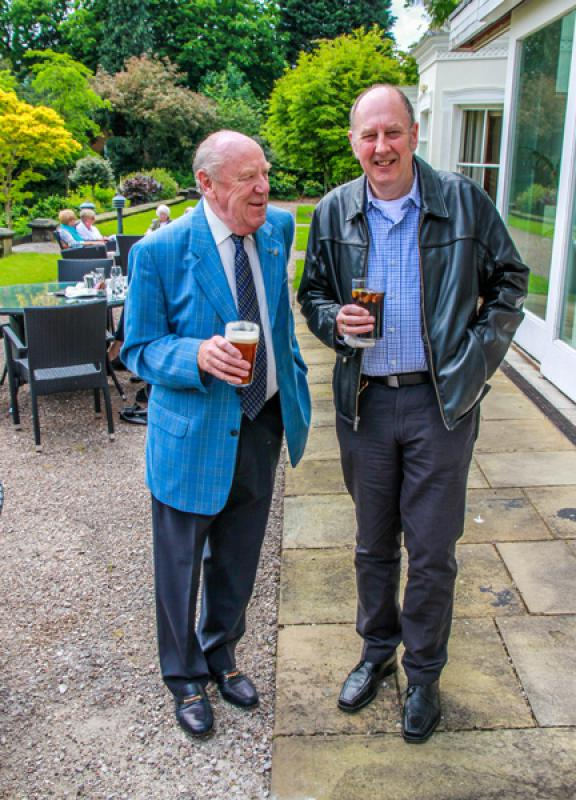 President's Lunch - Ken and Bob enjoying a pint.
