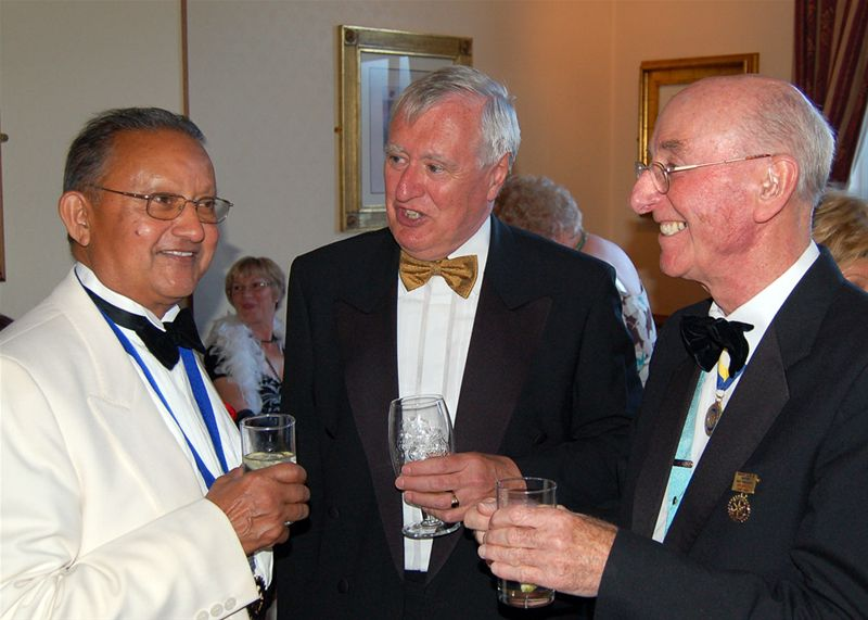25th Anniversary Charter Celebration - Satish can always be found with the bigwigs.