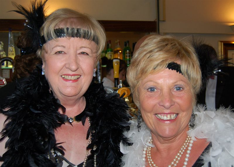 25th Anniversary Charter Celebration - Barbara and Carol really looked the part.