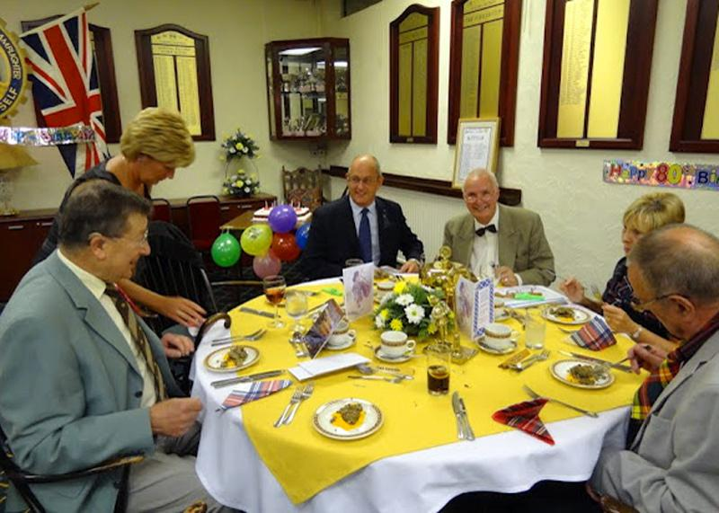 Robbie's 80th Birthday - Top table.