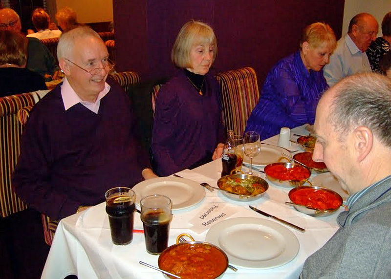 Charity Curry Night - Bill and Mary looking very co-ordinated.