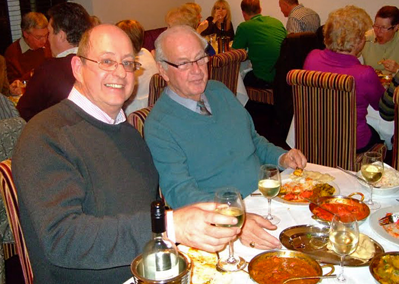 Charity Curry Night - John and Eric.