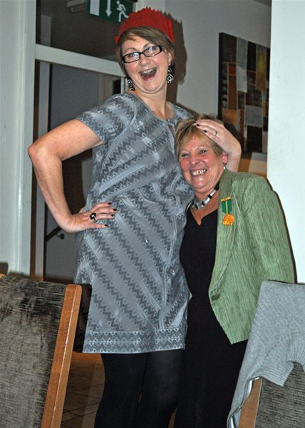 Christmas Party - ....and Carol's standing on a chair!