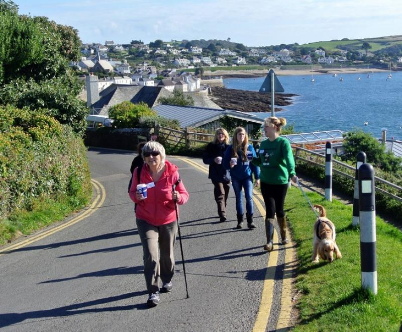 Fal River Walk 2015 - Leaving St Mawes (SW)
