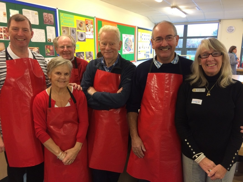 Young Chef 2016 at Richard Lander School - The washers-up from the Rotary Club