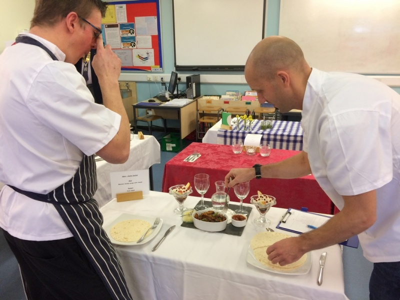Young Chef 2016 at Richard Lander School - Beware! Judges at work