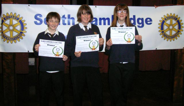 Youth Speaks - St Bedes 2 team Nov 2008, winners of South Cambridge under 14 competition.