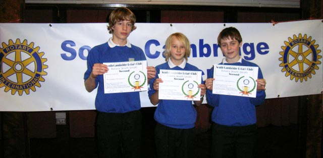 Youth Speaks - Melbourn Village College Boys Nov 2008, Runners up in South Cambridge competition under 14's