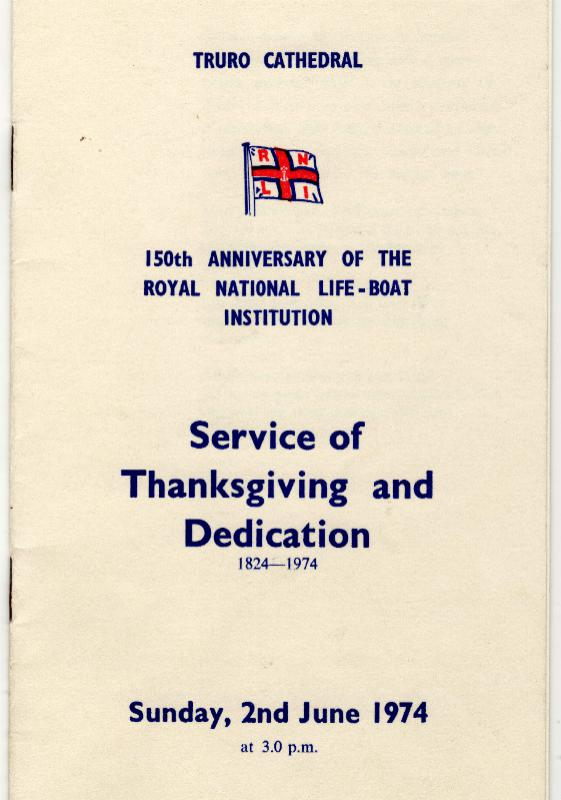 The Rotary Life Boat - Rotary Service - Falmouth & Dover, UK - 150th Anniversary of the RNLI on 2nd June 1974