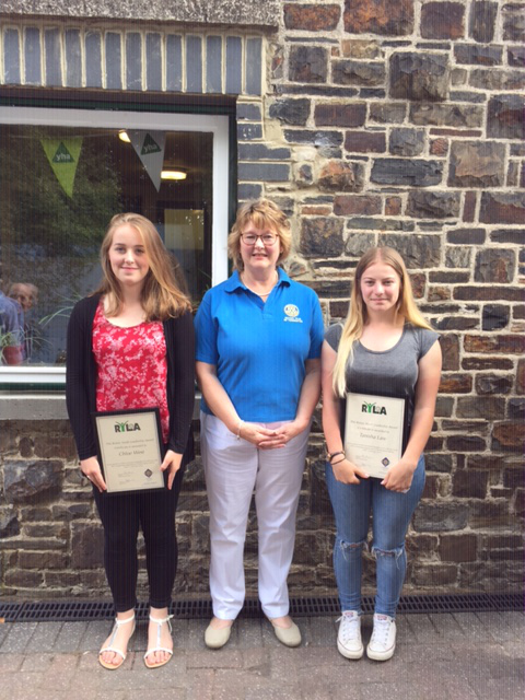 Tomorrow's Leaders In The Making - Chloe and Tanisha with Rtn Linda Facey