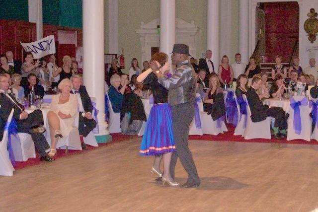 Strictly Come Rotary Dance Competition - Randolph Bishop and Barbara Croall dancing the Tango