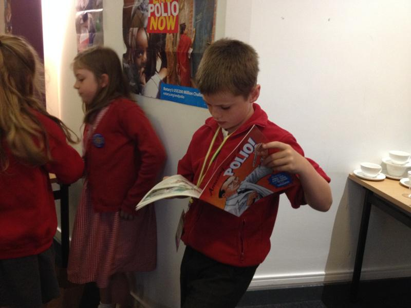 District Rotakids Conference 2014, Lancaster - Reading about Polio