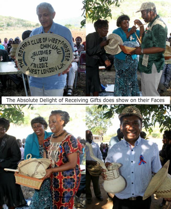 The Chikuku Youth Centre Project -  Zimbabwe - The delight on the Rotarians faces was priceless.