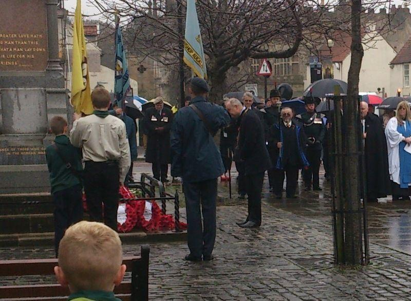 Remembrance Sunday 2015 - Remembrance Sunday 2015 Showing respect following laying of wreath