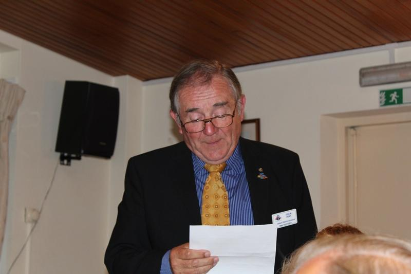 Ross Rotary Club Handover Dinner - Response from AG Colin