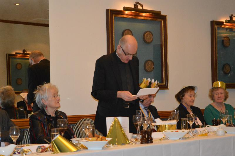 Christmas Lunch - December 2014 - The Guest Speaker from the Chelsea Parish.