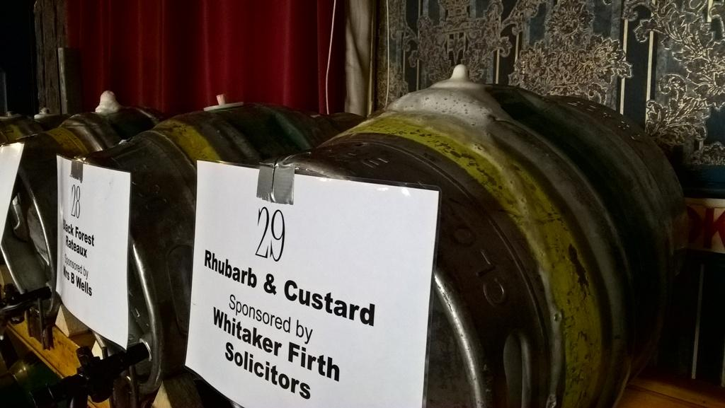 Inaugural Aireborough Beer festival - No mention of puddings in the programme!