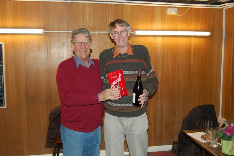 Skittled Out! - Robert Thompson presented with prize by Keith Smith