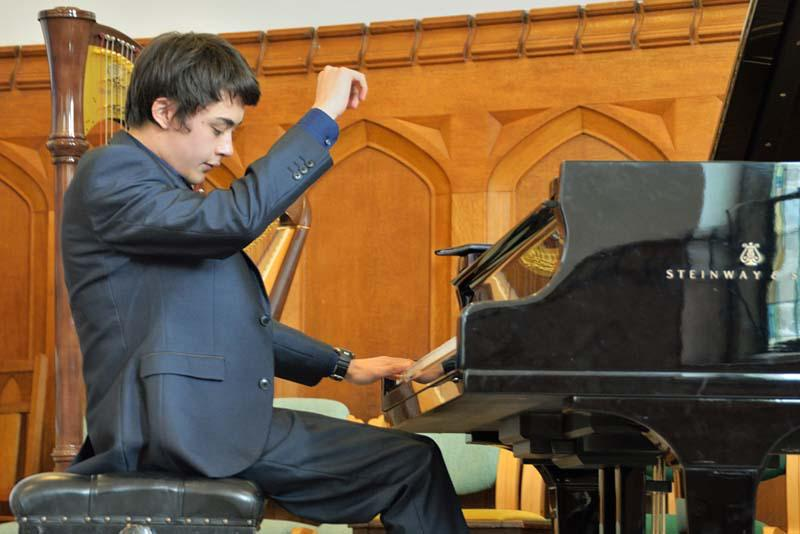 Robert wins RIBI Young Musician!   - Robert 'played Liszt and Copland to perfection'