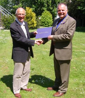 Rotary Awards - District Governor Elect presents the award to Rod Erlston