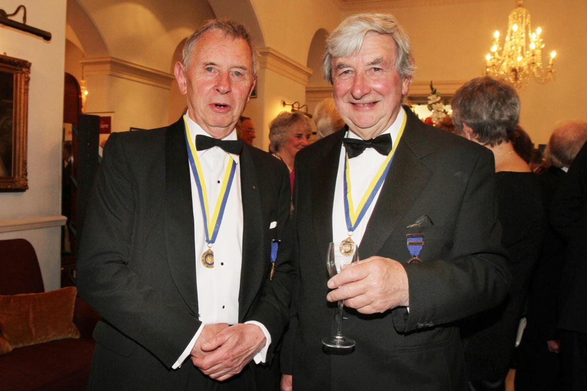 Cheltenham North Charter Anniversary Dinner 26th April 2012 - Roger Grimshaw and Brian Smith