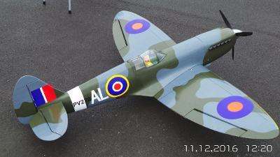Roger Brookes - The RAF Centenary and the celebration of the  Spitfire - Roger's Model Spitfire 2