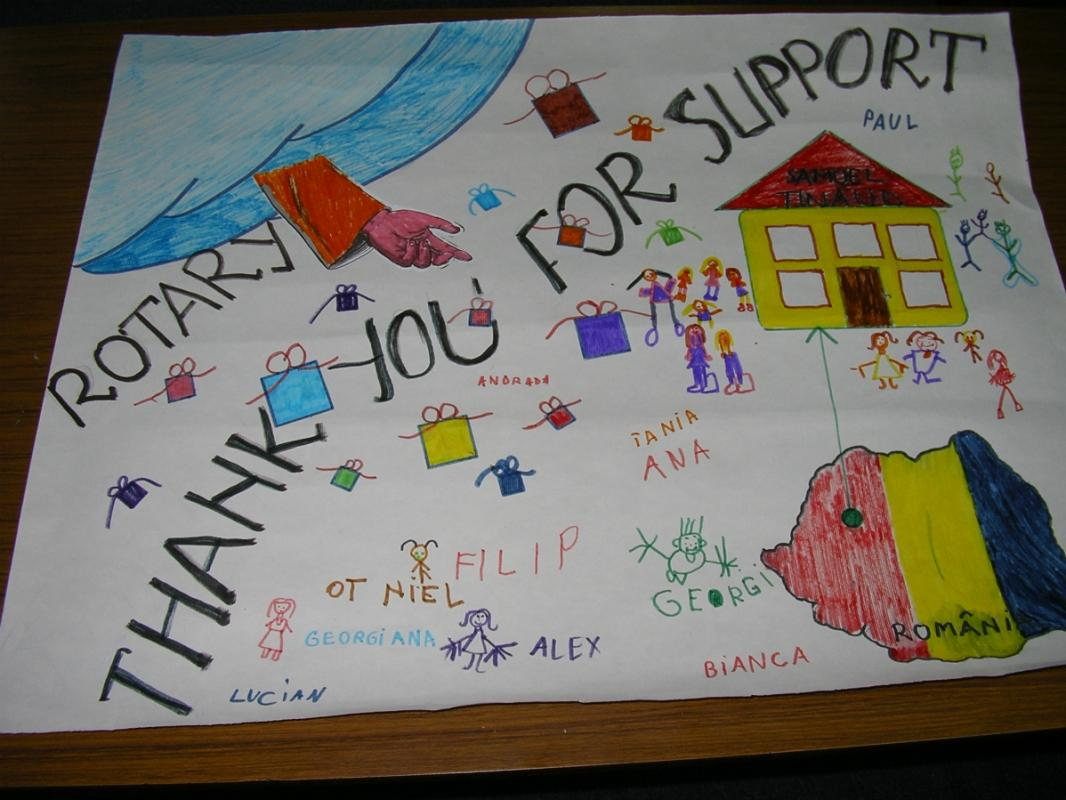 Rotary Shoebox Scheme - The biggest Thank You card I have ever seen