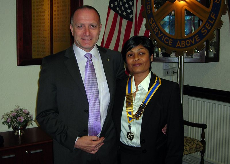 Club Assembly 2009 - Tasneem and Ron McFaull