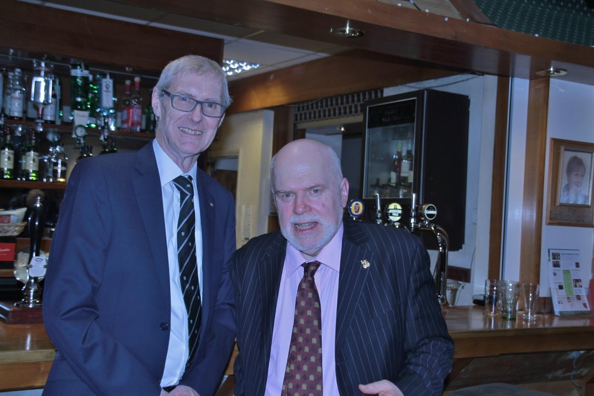 Ronald Porter - Three short talks - President Dion thanked our speaker for the evening at the bar