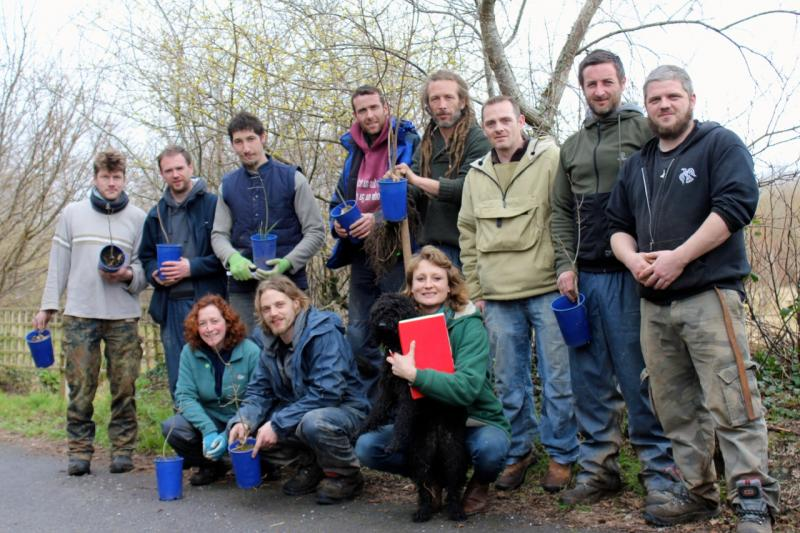 Peace Forest Ireland - The team from Rossinver Organic Centre along with Imogen Rabone of 'One Million Trees In A Day'