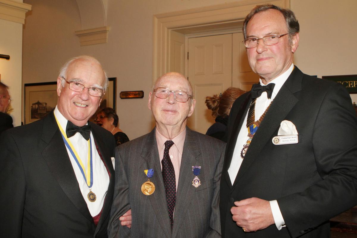 Cheltenham North Charter Anniversary Dinner 26th April 2012 - Ross Cole Jim Readings and Dr Michael Rouse