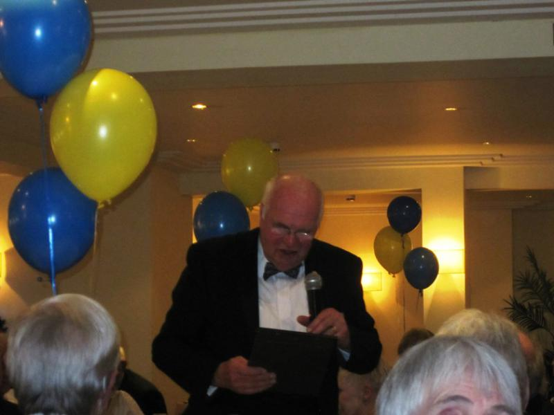 BLACKPOOL SOUTH ROTARY CLUB 2013  CHARTER DINNER.  - Rotarian Dougie Tait reading 'The Club Charter'.