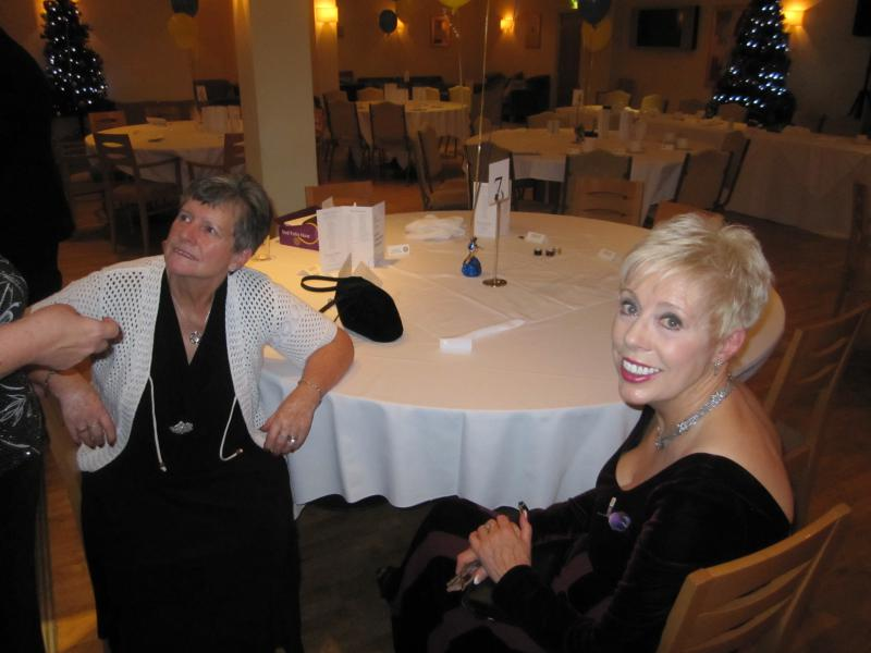 BLACKPOOL SOUTH ROTARY CLUB 2013  CHARTER DINNER.  - Rotarians Barbara Charlton and Elaine 'Darling' Fossett.