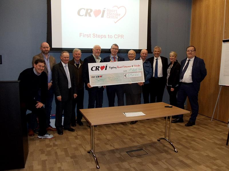Rotary Club of Galway Salthill take First Steps   - Rotarians support CROI