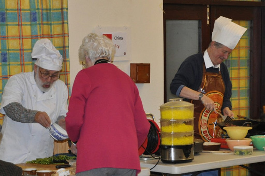 Rotarians can cook ! - Chefs in action !