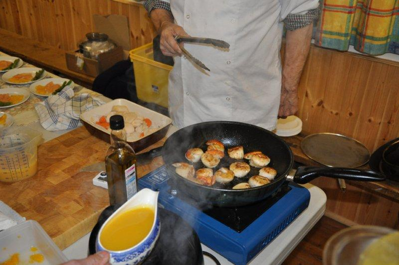 Rotarians can cook ! - Coquilles Saint-Jacques à la mode de Gilbert