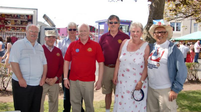 Carluke Gala day June 2013 - Rotary Gala Day Helpers & Ruby Mitchell