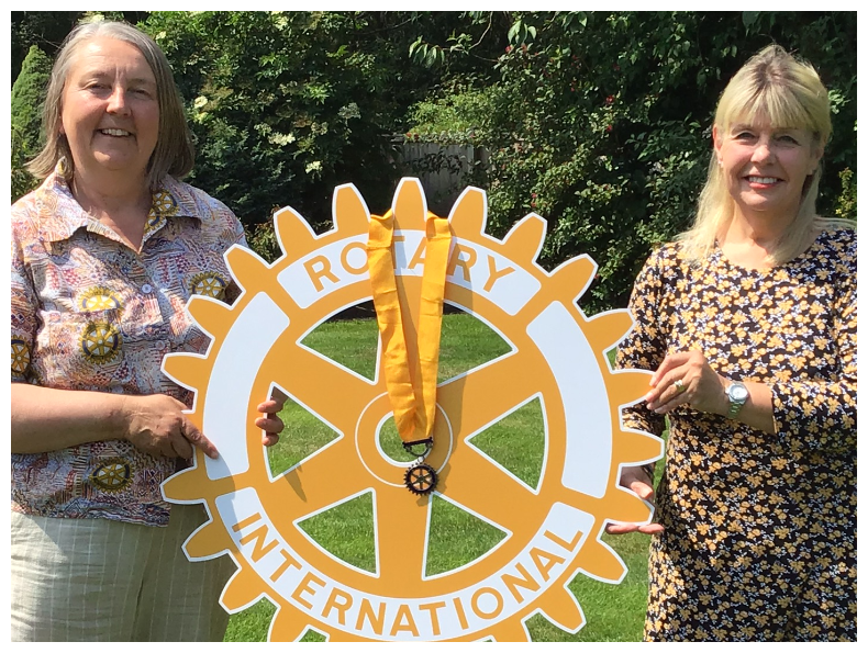 Happy New Rotary Year and Happy New President Bev! - Vice President Helen and President Bev