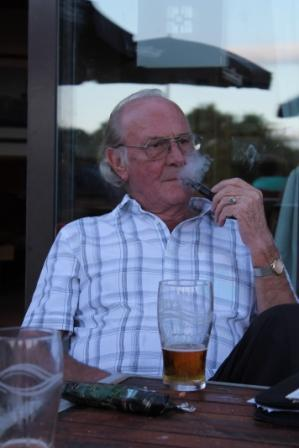 Peter Lane Memorial Golf  - Enjoying a wee Puff!
