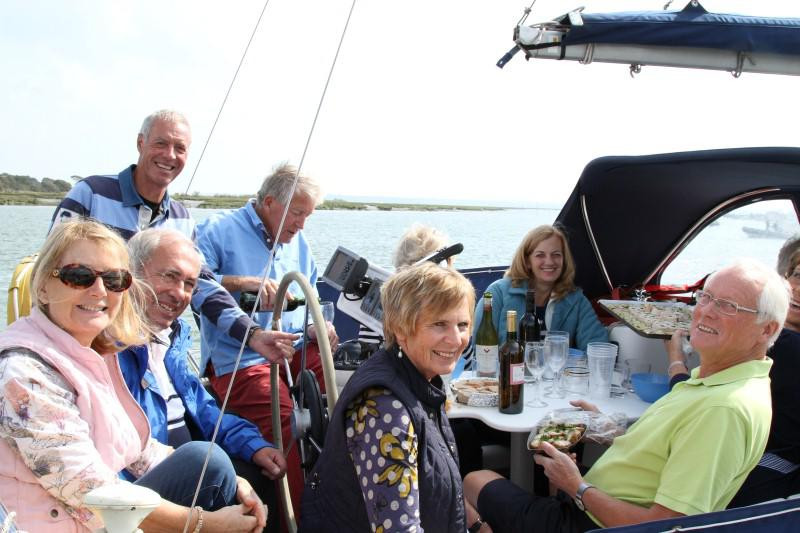 SAILAWAY TO GINS ON THE BEAULIEU RIVER  - Rotary Sail in 2014