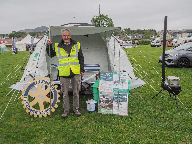 Penicuik in the Park on 25th May 2019 - Rotary Shelter Box