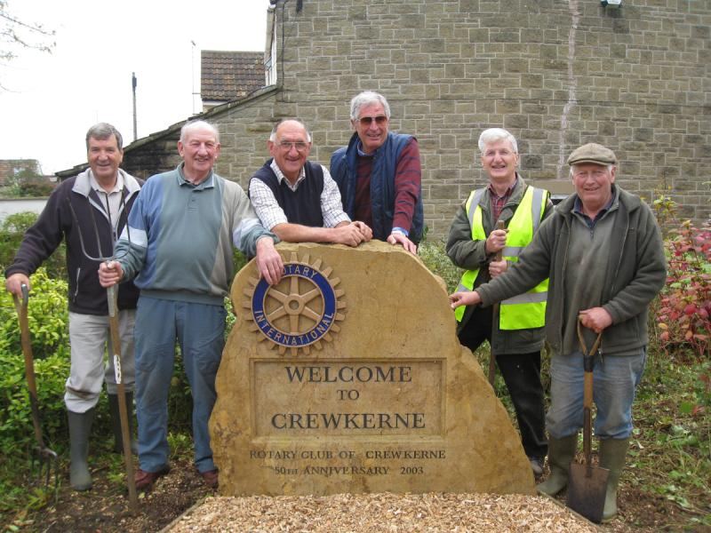 The Crewkerne Rotary Stone - Rotary Stone Oct 12 WP